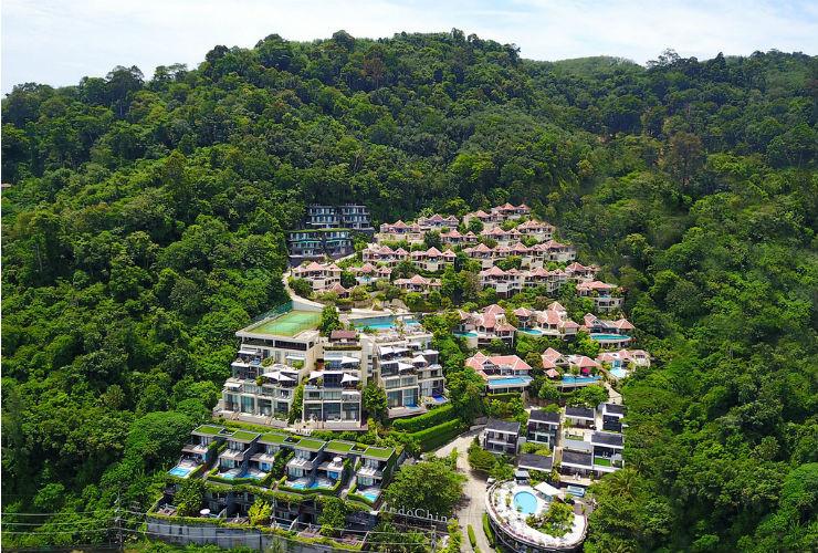 熱帯雨林に囲まれたリゾート