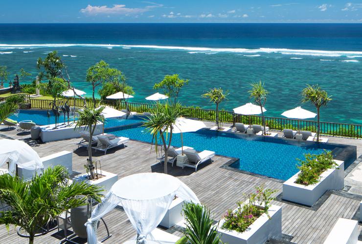 リゾートからのインド洋の眺め