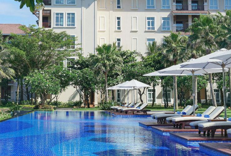 ホテルにはプールがたくさん