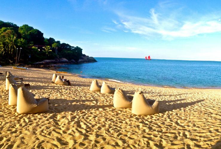静かなプライベートビーチ。