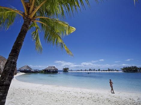 白砂のプライベートビーチ