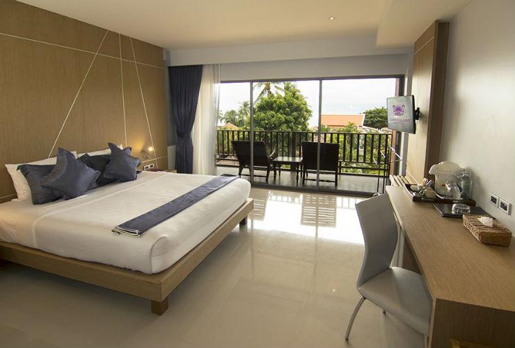 シンプルなつくりのお部屋。