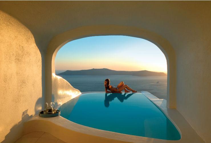 夢のような雰囲気のプライベートプールつきのお部屋も。