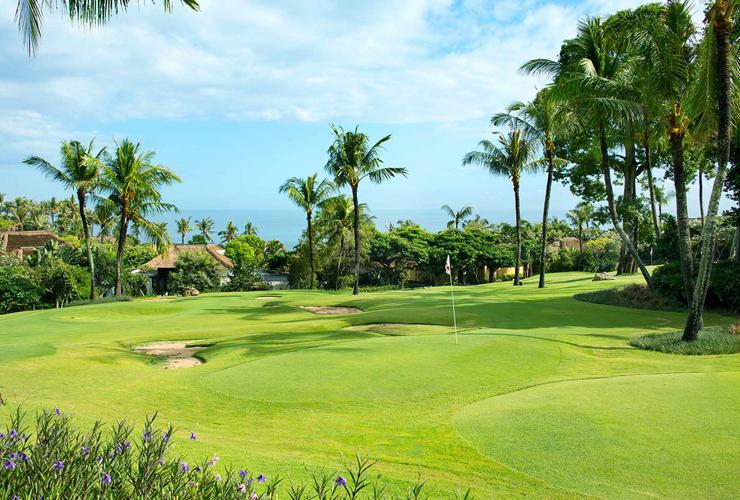 リゾート内のゴルフのパターコース