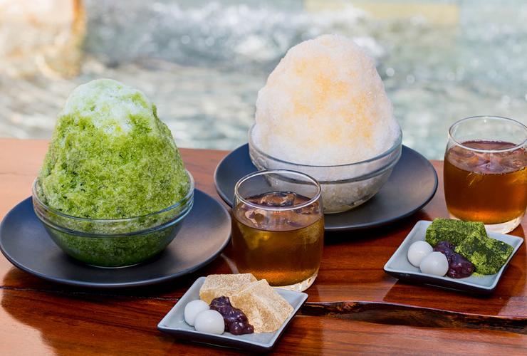 リゾート内の辻利で楽しめる和菓子やかき氷
