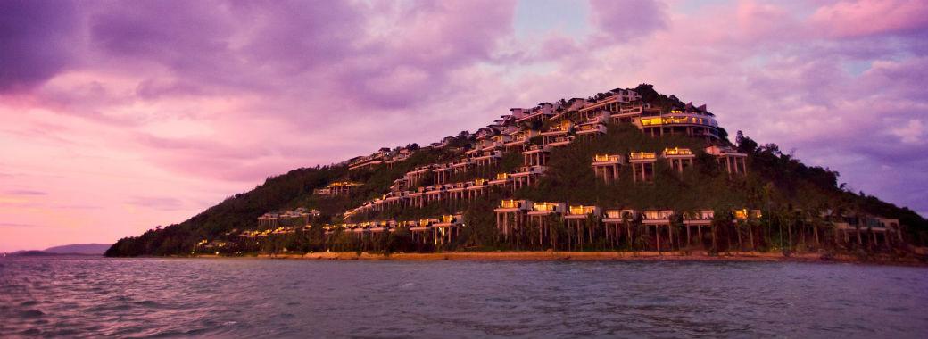 タイランド湾に浮かぶリゾート概観