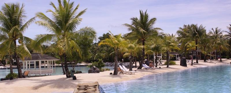 プランテーションベイリゾートアンドスパのプライベートビーチ