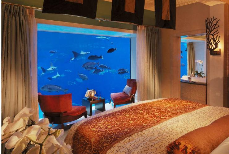 アンダーウォータースイート寝室