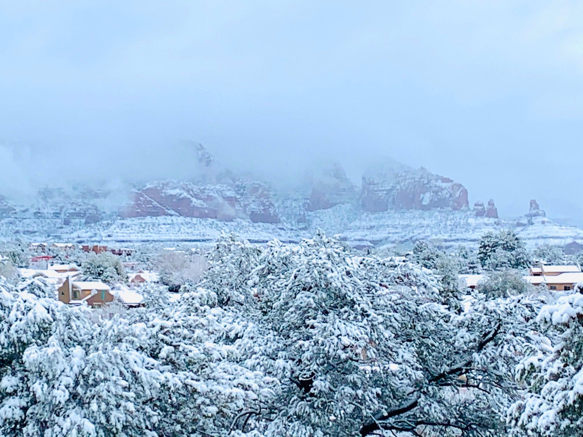 冬のセドナ