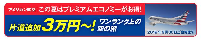 この夏はアメリカン航空のプレミアムエコノミーがお得!片道追加3万円から叶えられる!ワンランク上の空の旅