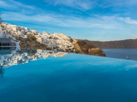 サントリーニ島:アンドロニス ラグジュアリー スイーツ プール