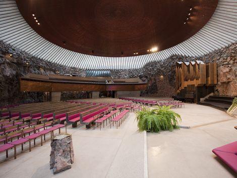 ◇◎ヘルシンキ:石の教会 テンペリアウキオ教会