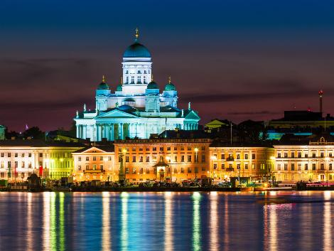◇ヘルシンキ:大聖堂の街の夜景