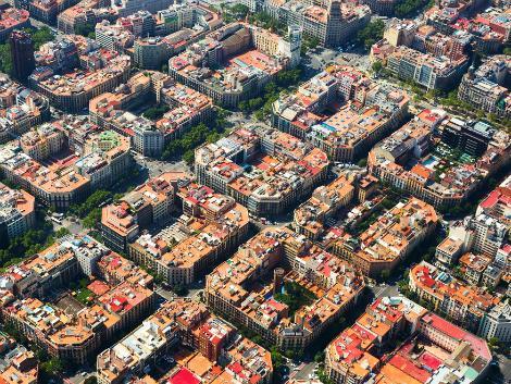 ◇バルセロナ:格子状の街並み