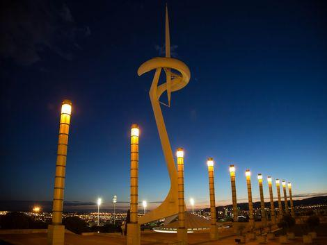 ◇バルセロナ:夜のモンジュイックタワー