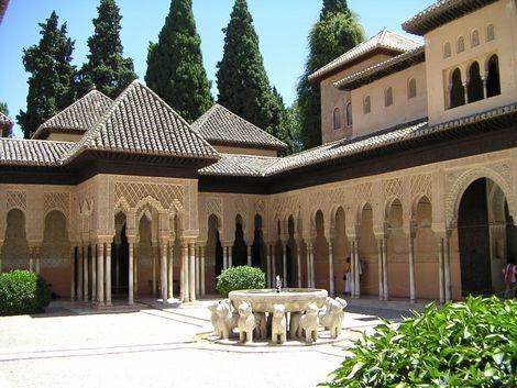 ◇グラナダ:アルハンブラ宮殿 ライオンの中庭