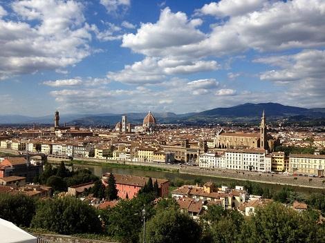 フィレンツェ:ミケランジェロ広場からの景色