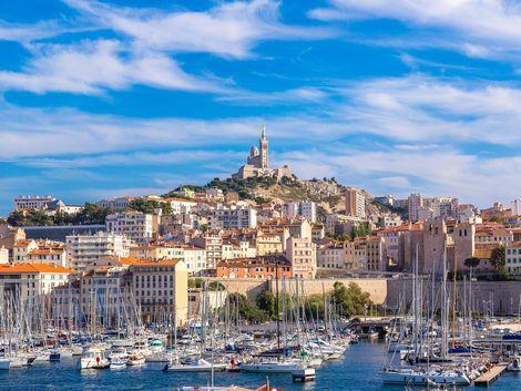 ◇マルセイユ:港とノートルダム寺院