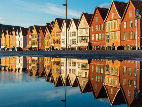 ◇ベルゲン:ブリッゲン地区の街並み