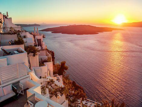 ◇サントリーニ島:エーゲ海のサンセット