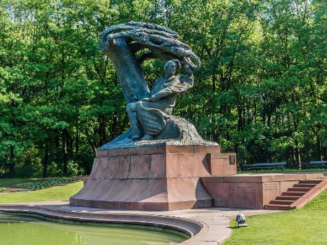 ◇◎ワルシャワ:ワジェンキ公園 ショパンの像