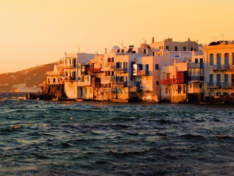 ◇◎ミコノス島:夕暮れの街並み