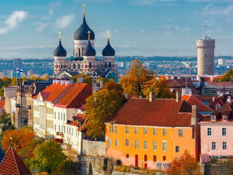 ◇◎タリン:アレクサンドル・ネフスキー大聖堂と街並み