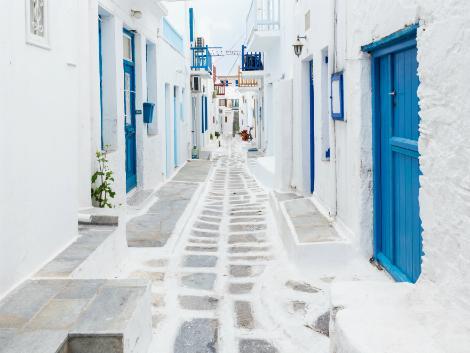 ◇◎ミコノス島:可愛らしい道
