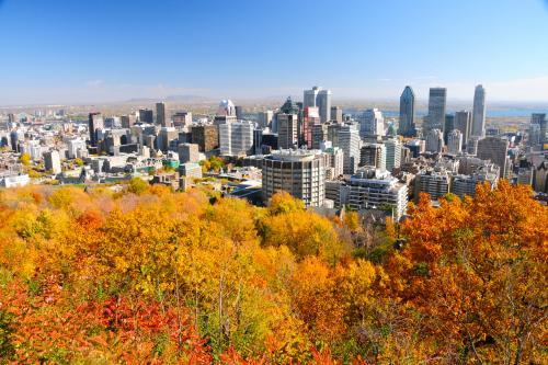 紅葉の季節のモントリオール
