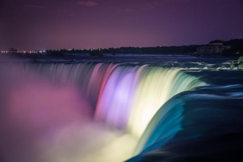 ナイアガラの滝:夜景(イメージ)