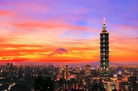 台北:夕焼けが美しい101タワー