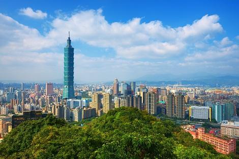 台北:晴天に映える101タワー