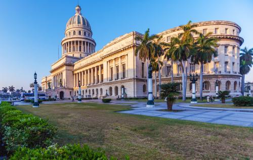 ハバナ旧市街にある旧国会議事堂(キューバ)