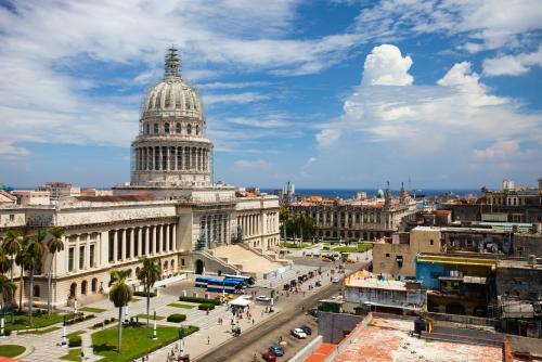 ハバナ旧国会議事堂の眺め(キューバ)