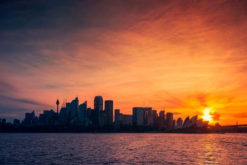 シドニーの夕暮れ