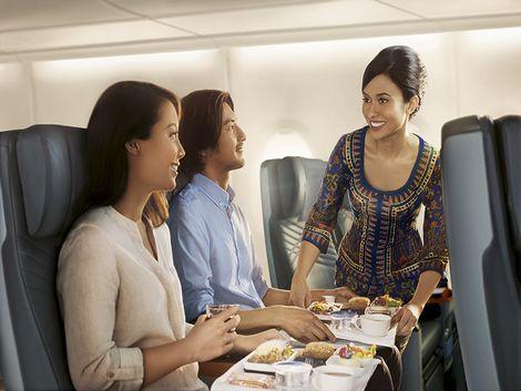 シンガポール航空 プレミアムエコノミークラス 機内サービス