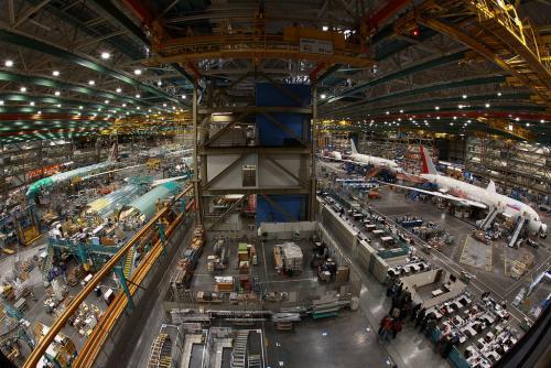 世界最大の建造物としてギネス認定のボーイング工場(イメージ)