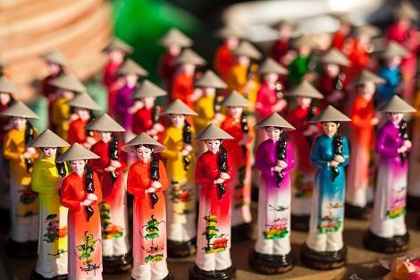 ベトナム:水上人形劇のお人形