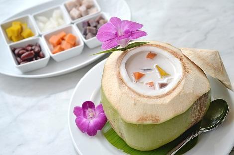 タロイモとココナッツミルクのデザート