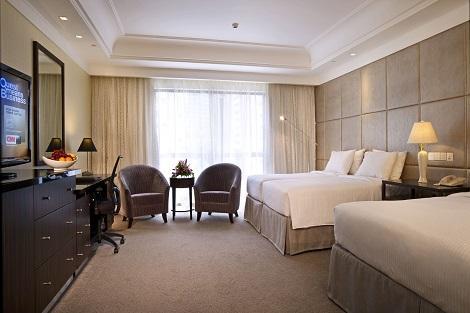 シンガポール:ヨーク ホテル 4名様利用 プレミアムルーム 客室一例