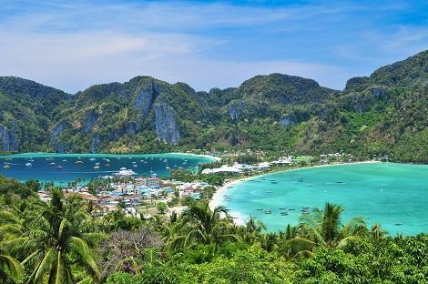 ピピ島:ビューポイントからの眺め