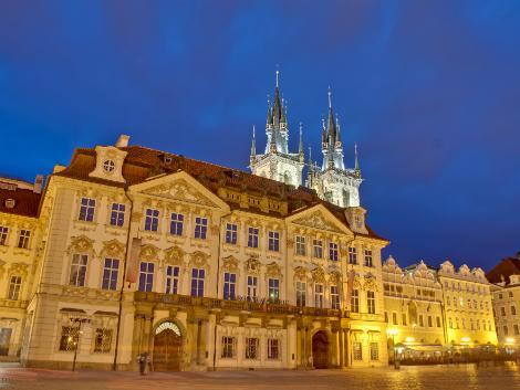 ◇◎プラハ:夜のキンスキー宮殿