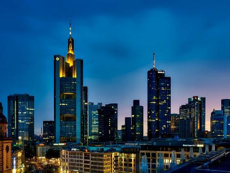 ◇◎フランクフルト:ビル街の夜景