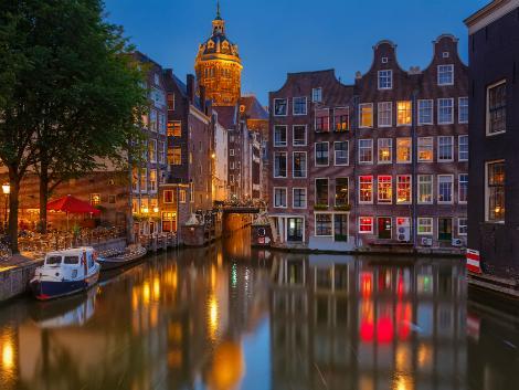 ◇◎アムステルダム:夜の街並み