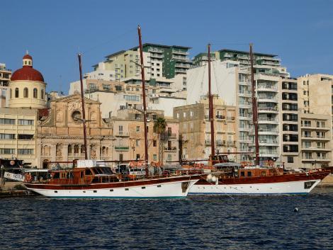 ◇◎マルタ(スリーマ地区):船と街並み