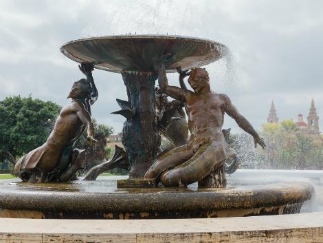 ◇◎マルタ(ヴァレッタ地区):噴水