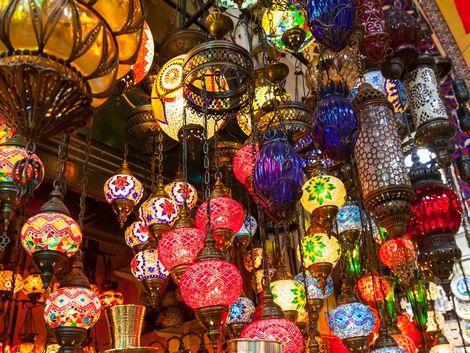 ◇◎イスタンブール:グランバザールで販売しているお洒落なランプ