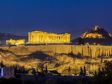 ◇アテネ:夜のアクロポリス