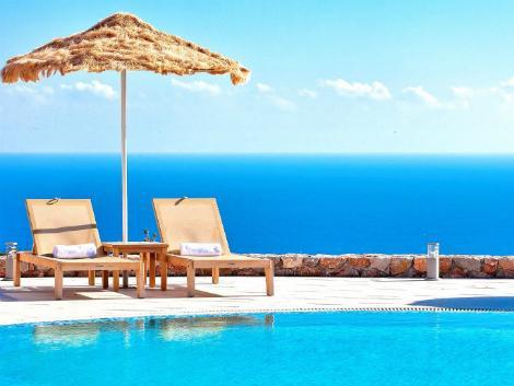 サントリーニ島:アストロ パレス プール