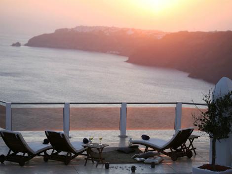 サントリーニ島:ロカベラ サンセット